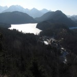 Overlooking Alpsee and Hohenschwangau